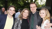 Whos Afraid of Virginia Woolf? co-stars Kathleen Turner and David Harbour are flanked by Evan Jonigkeit and Julia Stiles.