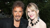 Al Pacino enjoys a Central Park reunion with his Merchant of Venice co-star Lily Rabe.