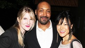 On her night off from playing Rosalind in As You Like It, Lily Rabe reunites with former Merchant of Venice co-star Jesse L. Martin (who juggled three roles in the benefit reading) and Seminar co-star Hettienne Park.