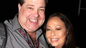 Bruce Dow plays King Herod in the Superstar revival, but shows his true smiley self in a photo with the lovely Yvonne Elliman.