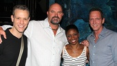 Memphis stars Adam Pascal and Montego Glover, welcome retired Yankees David Wells and David Cone to the Shubert Theatre.