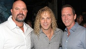 The two men who pitched perfect games for the New York Yankees, David Wells and David Cone, congratulate Memphis composer and lyricist David Bryan.