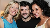 Max celebrates with his good friends and Hello Again co-stars Elizabeth Stanley and Alexandra Silber.