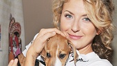 Venus in Fur Tony winner Nina Arianda strikes a pose with this furry gal. 