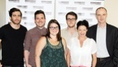 Jake Gyllenhaal, Michael Longhurst, Annie Funke, Nick Payne, Michelle Gomez and Brian F. O'Byrne line up for a company photo. See them live in If There Is I Haven't Found It Yet at off-Broadway's Laura Pels Theatre, beginning August 24!