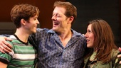 Jake Boyd as Jimmy, John Bolton as Ernie and Farah Alvin as Pam in The Last Smoker in America.