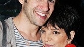 Liza Minnelli cuddles up with Peter himself, Adam Chanler-Berat.