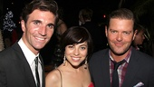 Broadway regulars Charlie Sutton, Krysta Rodriguez and Clarke Thorell enjoy a summertime opening night.