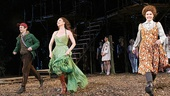 The musical's trio of headliners Denis O'Hare, Donna Murphy and Amy Adams step up for their opening night bow.