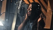 Leading lady Adrienne Warren lets loose inside the recording studio.