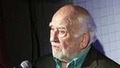 "TV icon Ed Asner has the crowd in stitches as he jokes about joining Grace to ""get the girl."""