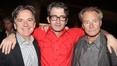 Director Daniel Aukin is flanked by Signature Theatre Company Artistic Director James Houghton and playwright Sam Shepard.