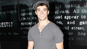 Corey Cott can't help but beam from ear to ear after his first official performance as Jack Kelly in Newsies.
