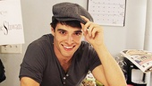 Corey Cott tips his hat to all the wonderful Fansies that came out to support his first performance. 