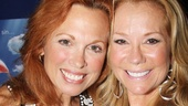 Gifford gets cheek to cheek with her shows star, Carolee Carmello, who plays evangelist Aimee Semple McPherson.