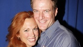 Its love! Carolee Carmello gets close with the dashing Edward Watts, who plays her first husband&amp;#8212;and her third husband!