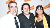 Forbidden Broadway: Alive & Kicking's co-director Phillip George is only too happy to see old friends David Babani (artistic director of London's Menier Chocolate Factory, where Forbidden Broadway ran in 2009) and Forbidden Broadway alum Christine Pedi (YouTube her Liza Minnelli immediately if you haven't seen it!).