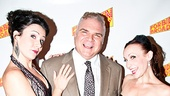 Forbidden Broadway creator, writer and director Gerard Alessandrini is flanked by his beautiful leading ladies Natalie Charle Ellis and Jenny Lee Stern.