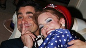 Starring on Broadway is exhausting! John Stamos and Kristin Davis take a much deserved post-show nap.