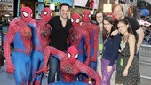 Cast members from Once and Spider-Man Turn Off the Dark collide.  Can you tell which ones are which?