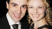 Rob McClure goes cheek to cheek with Hayley Podschun, who plays Chaplin's first wife, Mildred Harris.