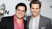 Original Book of Mormon stars Josh Gad and Andrew Rannells reunite on the red carpet! Both left the Broadway production this summer to focus on their TV/film careers.