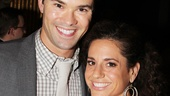 Hairspray alums Andrew Rannells and Marissa Jaret Winokur hang out! 