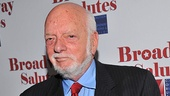 The legendary Hal Prince, who served at the Broadway Salutes emcee, shows off his honorary pin. If you won 21 Tony Awards, youd be proud, too!