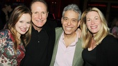 Carrie stars Molly Ranson and Marin Mazzie share in the excitement of the evening with the show's composer Michael Gore and writer Lawrence D. Cohen (who also penned the film script).