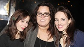 O'Donnell is flanked by Milioti and Once's other Tony-nominated actress, Elizabeth A. Davis.