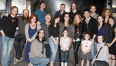Rosie ODonnell at Once  Rosie ODonnell  Cristin Milioti  Steve Kazee  Cast of Once