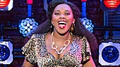 Ta'Rea Campbell as Deloris and the cast of the national tour of Sister Act.