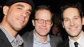 Thomas McCarthy (c.) wrote and directed Win Win starring Bobby Cannavale (l.) and acted in Wanderlust with Paul Rudd (r.)!