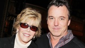 Jane Fonda catches up with set designer Derek McLane, who was also a designer for 33 Variations. Catch The Heiress at the Walter Kerr Theatre!