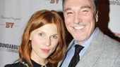 Clemence Poesy poses with Patrick Page, who plays the scheming Comte de Guiche.
