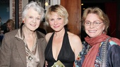 What a radiant trio! The Best Man's best ladies, Angela Lansbury (l.), Angelica Page (c.), and Elizabeth Ashley (r.) catch up on opening night of Page's solo show.