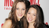 Check out these beauties! Cinderella star Laura Osnes catches up with Newsies' Laurie Veldheer.