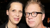 It's an August: Osage County reunion! Amy Morton and Jeff Perry catch up at the party.