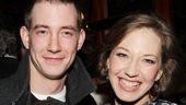Carrie Coon's brother Aaron wouldn't miss his sister's Broadway debut!