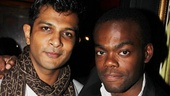 Utkarsh Ambudkar and William Jackson Harper may get into their share of onstage squabbles, but offstage they're pals.
