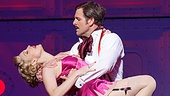 Rachel York as Reno Sweeney, Edward Staudenmayer as Sir Evelyn Oakleigh and the cast of the national tour of Anything Goes.