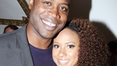 Magic/Bird star Kevin Daniels enjoys the night with Stick Fly star Tracie Thoms.
