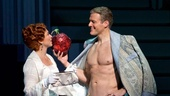 Carolee Carmello as Aimee Semple McPherson and Edward Watts as David Hutton in Scandalous.