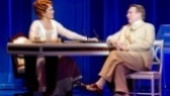Carolee Carmello as Aimee Semple McPherson and George Hearn as Brother Bob in Scandalous.