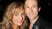 Co-stars Judy McLane and Aaron Lazar get cozy in a post-show photo—McLane has appeared in Mamma Mia! for nearly eight of the show's 11 years!