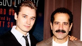 Seth Numrich and Tony Shalhoub play father and son in Golden Boy. Here, we can almost make out the family resemblance.