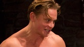 Billy Magnussen as Spike and Kristine Nielsen as Sonia in Vanya and Sonia and Masha and Spike.