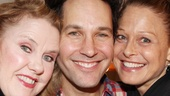 Celia Weston and Arija Bareikis take in their Last Night of Ballyhoo co-star Paul Rudd's latest Broadway venture, and Rudd couldn't look happier to see his former castmates. Check out Rudd, Asner and more in Grace at the Cort Theatre.