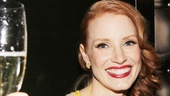 Cheers to a fantastic opening night! See Jessica Chastain in The Heiress at the Walter Kerr Theatre.