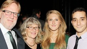 Judith Ivey is thrilled to have her husband Tim Braine (l.), daughter Maggie (second from r.) and Zach Ellis (r.) by her side.